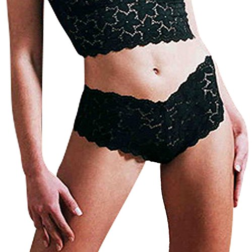Hottie French Knicker, Lace, Black (L) by Australia