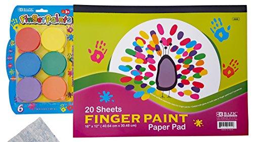 Jumbo Finger Paint Paper - Finger Paint Paper Pad 20 Ct. 16