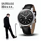 House M.D. 7165 Men's Analog Quartz Watch with Chronograph, Black Dial, Black Strap