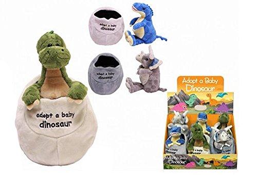 Plush Baby Dinosaur In Egg 3 Assorted - Dinosaur Soft Toys - One Chosen At Random (Egg Babies Plush)