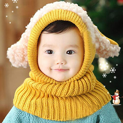 (Jshuang Handmade Animal Shape Elephant Hat Braided Baby Knit Hat, 0-6 Months Children (Yellow2))