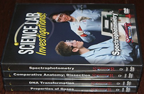 cience Lab Investigations Set - 4 Pack Including Comparative Anatomy: Dissection, DNA Transformation, Properties of Gases and Spectrophotometry ()