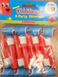 Clifford The Bid Red Dog Blowouts Birthday Decoration 8PC Favors Treats