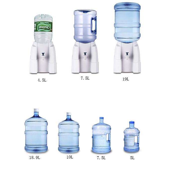 H&YL Mini Dispensador De Agua,con Grifo Encimeravaso De Agua Dispensadores Botella De Soporte para Cocina Casa Oficina,White: Amazon.es: Hogar