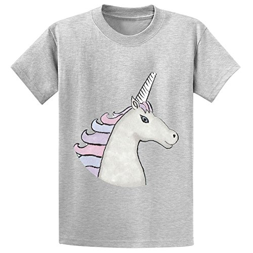 Unicorn For You Child Crew Neck Customized T Shirts Grey