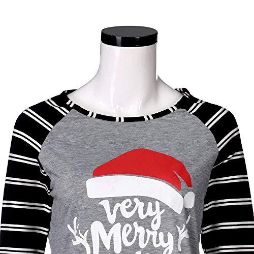 Nero Nero Felpa Donna Maniche Lunghe con Colore M a Nero Nero Nero Casual FuweiEncore Natale Maniche Felpa da da Lunghe Dimensione Donna Maniche con di Corte y6xqHYA