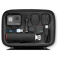 GoPro HERO5 Session Action Camera Bundle (15 Items):HERO5 Camera,Frame,7 Flat & Curved Adhesive Mounts, Mounting Buckle, USB-C Cable, Headstrap, Handgrip, 16GB SD & Adapter, Case