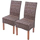2 x Dining Chairs, Wicker Chair, Chair M44, Kubu-Rattan without cushion
