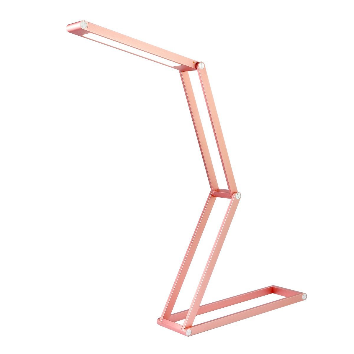 ANTIEE Foldable LED Desk Lamp, USB Rechargeable, Portable and Multi-Functional - Reading, Studying, Camping, Home and Office (Rose Gold)