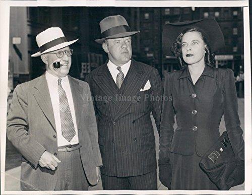 1942 Photo Richard Knight Lawyer David Price Dorothy Wife Disbarred Pipe 7x9
