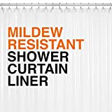 Mildew Resistant PEVA Shower Curtain Liner 72x72 Clear 10G Thickness, Mildew Resistant and No Chemical Smell