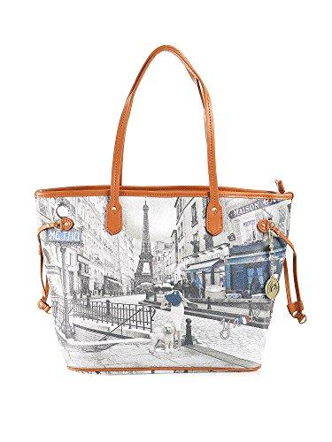 M Gold Metro Borsa Bag Parigi Cuoio G Parisienne Shopping 319 EwPqF