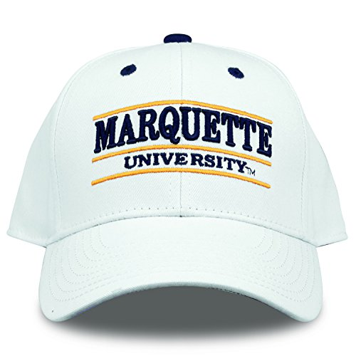 The Game NCAA Marquette Golden Eagles Bar Design Hat, White, Adjustable