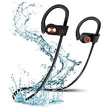Wireless Bluetooth Headphones, NEWSTYLE Wireless Headphone Sports Headset IPX7 Waterproof Running Gym Exercise Headphones Bluetooth 4.1 Noise Cancelling Secure Ear Hooks
