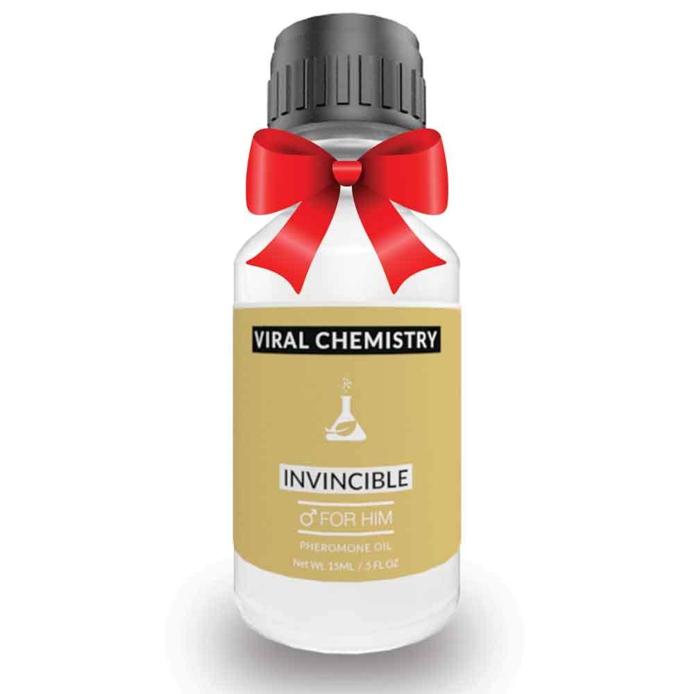 Pheromones For Men Pheromone Cologne Oil (Invincible) - Bold, Extra Strength Human Pheromones Formula – 15mL Concentrate [Human Grade Pheromones to Attract Women]
