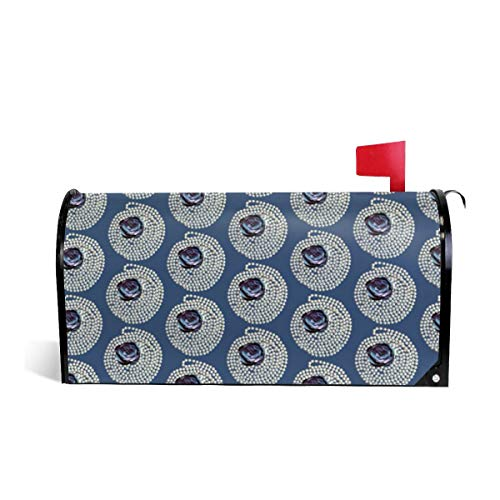 Mailbox Covers Standard Size Magnetic Mail Cover Pearls Blue Rose Wraps Letter Post Box Cover 21