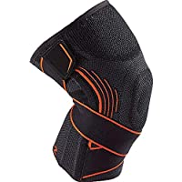 Kamileo Compression Knee Sleeve with Support Straps for Injury Recovery, Joint Pain Relief, Basketball, Running, Hiking, Squats & Workouts