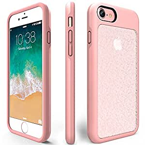 iPhone 7 Shockproof Case, ZVEpower Mobile iPhone 8 Protective Bling Case Slim Shockproof Crystal Detachable PC Flexible TPU Rubber Silicone Skin Cover Shell for Apple iPhone 7 iPhone 8 Rose Gold