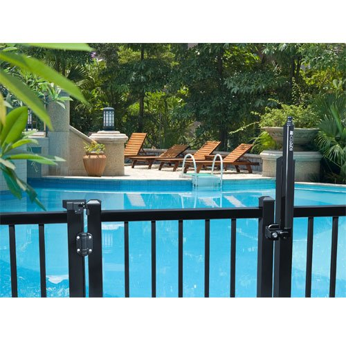 Product Safety Swimming Pools : Safe t latch swimming pool gate with hinges sl