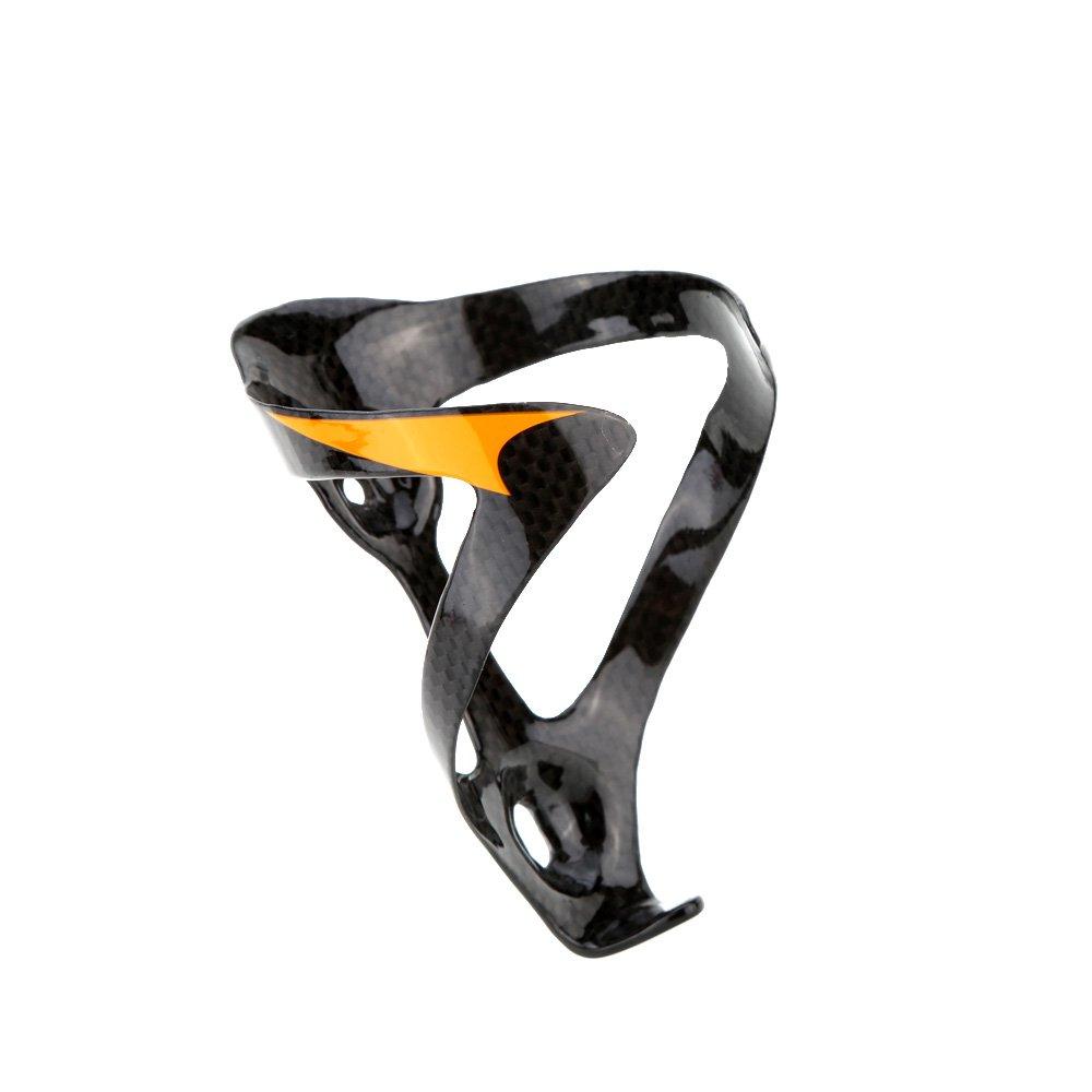 Portabotellas Docooler para bicicleta ligero de fibra de carbono, arancione