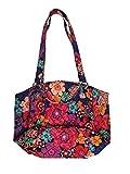Vera Bradley Glenna Shoulder Bag, Signature Cotton (Floral Fiesta)