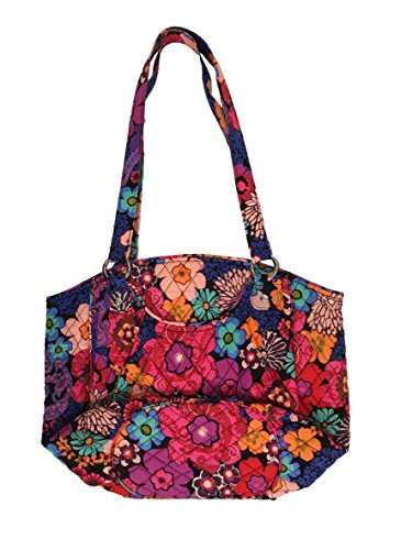 Vera Bradley Glenna Shoulder Bag  Signature Cotton  Floral Fiesta