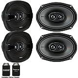 Kicker Speaker Bundle - Two pairs of 6x9 Inch 3-way KS-Series Speakers 44KSC69304