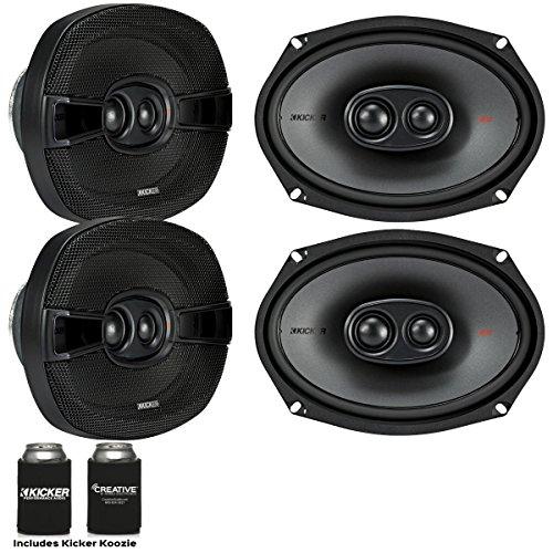 Kicker Speaker Bundle - Two Pairs of Kicker 6x9 Inch 3-Way K