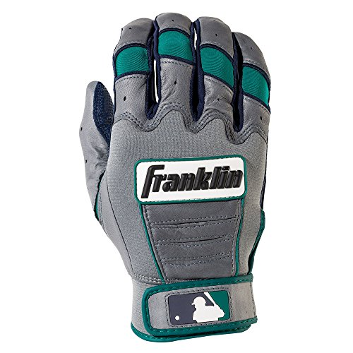 - Franklin Sports Youth Robinson Cano CFX Pro Signature Series Batting Gloves, Youth Medium, Pair, Navy/Gray/Teal
