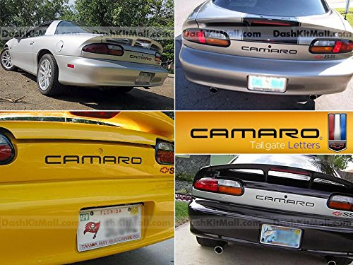 Chevrolet Camaro 1992 1993 1994 1995 1996 1997 1998 1999 2000 2001 2002 Rear Tailgate Letter Insert Not Decals - Black (Camaro Letter Inserts compare prices)