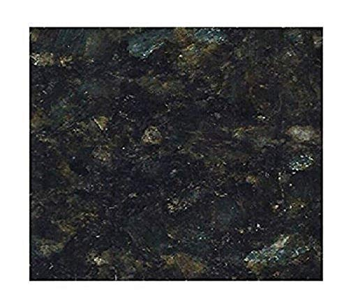 """EZ FAUX DECOR Marble Self Adhesive Granite Black Roll Kitchen Countertop Cabinet Furniture Instant Update. Easy to Remove Thick Waterproof PVC Vinyl Laminate Film. Why Paint? (36"""" X 36"""")"""
