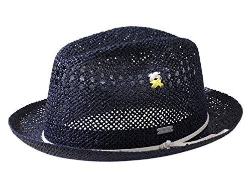 Hats Fedora Kangol (Kangol Men's Vented Navy Straw Player Trilby Hat Sz: S)