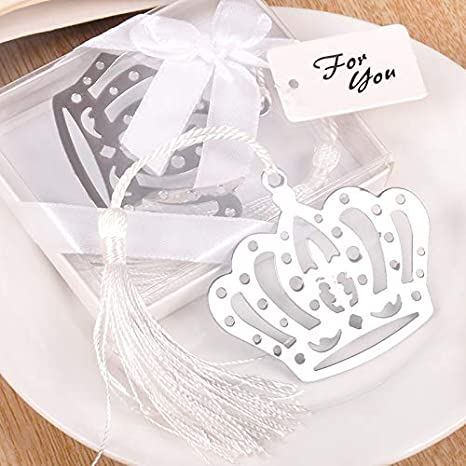 HATABO Return Gift Birthday Wedding 5pcs Creative Stainless Steel Imperial Crown Bookmark For
