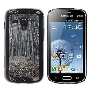 Be Good Phone Accessory // Dura Cáscara cubierta Protectora Caso Carcasa Funda de Protección para Samsung Galaxy S Duos S7562 // Winter Forest Deep Cold Dark Classy