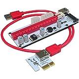 SODIAL 最新のVER008S 0.6M USB 3.0ケーブルプロフェッショナルマイニングPCI-E EXPRESS PCI-E 1Xから16X M2ライザーカードアダプター(8 GPUグラフィックカード用)赤