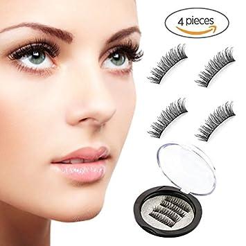 5473fc020ed Magnetic Eyelashes Dual Magnet 3D Reusable Full Size Fake Eye Lashes  Premium Quality Ultra Thin Natural