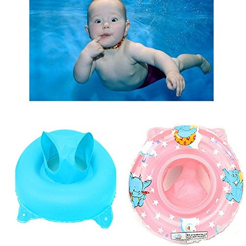 2 Color Rainbowkids Inflatable swimming rings for Baby Child with Handle Safety Seat,Swim Ring Swimming&bath Trainer within 1-5 years old