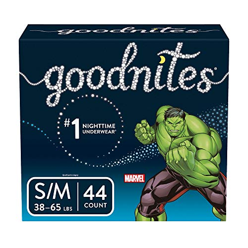 Goodnites Bedwetting Underwear for Boys, S/M (38-65 lb.), 44 Ct (Packaging May Vary) (M And M Boys)