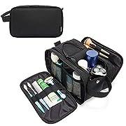 WANDF Toiletry Bag for Men Wet Separation Pocket Travel Organizer Full Opening Zippers Dopp Kit Water-Resistant Shaving…