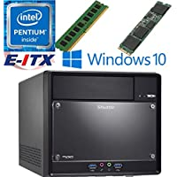 Shuttle SH110R4 Intel Pentium G4600 (Kaby Lake) XPC Cube System , 4GB DDR4, 240GB M.2 SSD, DVD RW, WiFi, Bluetooth, Window 10 Pro Installed & Configured by E-ITX
