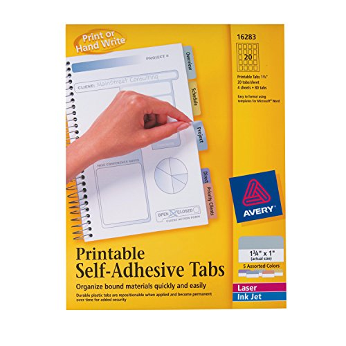 Avery Printable Self Adhesive inches 16283