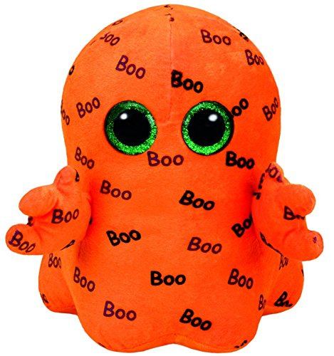 Ty Ghoulie the Orange Ghost Halloween Beanie Boos Medium 9`` Plush Toy ( New) .HN#GG_634T6344 G134548TY98555