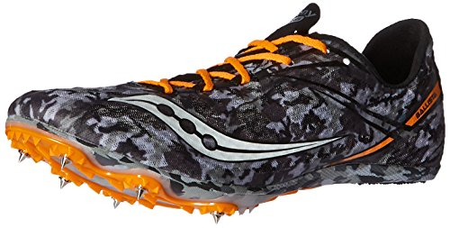 Track Running Spike (Saucony Men's ballista Track Shoe, Black/White, 10 M US)