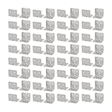 uxcell 31mmx31mmx38mm Stainless Steel 6 Holes Right Angle Brackets Support 80pcs
