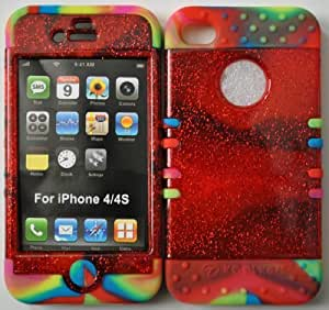 good case 2 IN 1 HYBRID SILICONE GEL SKIN+case FOR iPhone 6 4.7 RED GLITTER FACE PLATE+RAINBOW YRswrcE1EEg TIEDYE SILICONE