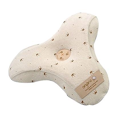 ALPREMIOOEM Almohada de bebé orgánica con Diseño de Corona de 3 Peldaños de 0 a 36
