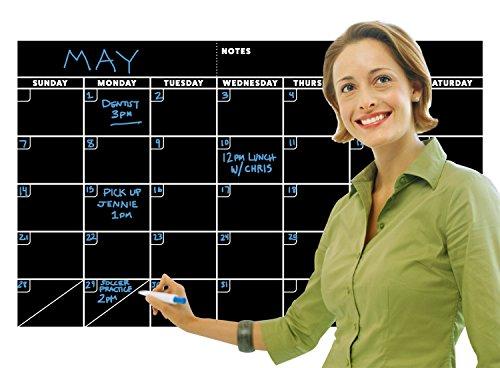 Erasable Chalkboard Calendar Monthly Planner product image