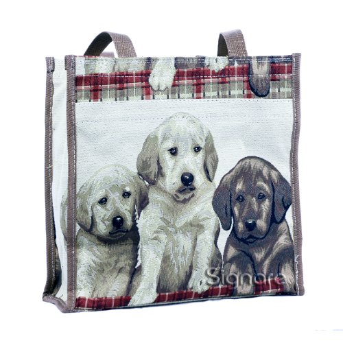 e864be3ce5 Signare Tapestry Shopping Tote Bag   Shoulder Bag  in Three Dog (Puppy) -  Buy Online in Oman.