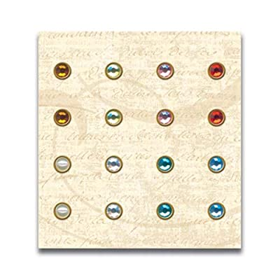 K-ology Metal Art Embellishments-addison Jewel Brads