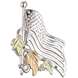 Black Hills Gold Silver American Flag Pin or Tie Tack